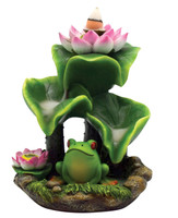 Frog Backflow Incense Burner - Polyresin / 5.75""